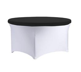 svart strech bordslock stor