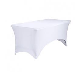 vit stretch duk rektangulär