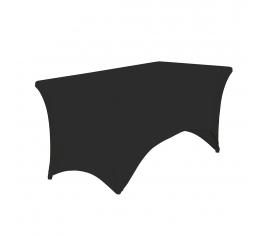 svart stretch duk rektangulär