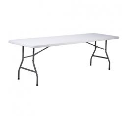 hopfällbart bord vit 180x76cm