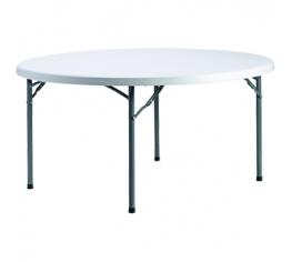 hopfällbart bord rund vit...